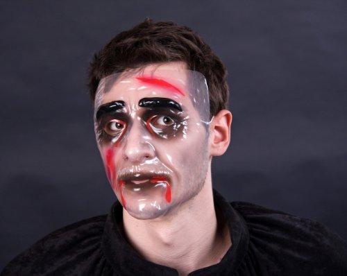 Blutender Zombie Halloween-Maske schwarz-weiss-rot (Halloween Maske Rote)