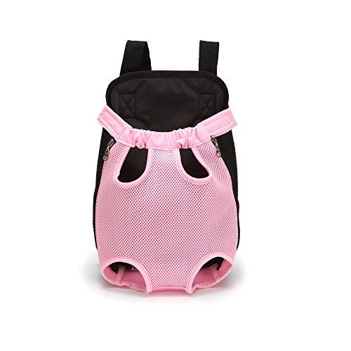 LGXS Borsa Traspirante per Cani Borsa per Il Trasporto di Grandi capacità Gabbia per Cani e Gatti Grigio Grigio Chiaro Rosa Rosso,Pink,L