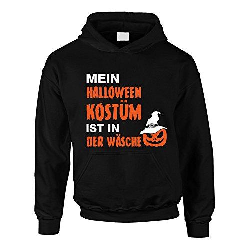 Kinder Hoodie - Mein Halloween Kostüm ist in der Wäsche - von Shirt Department, 152-158, schwarz-Weiss