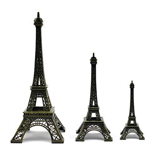Arpoador 1 x Statue Figurine Paris Tour Eiffel Décorations de Bureau à Domicile Décoration de Cadeau de Noël (10 cm)