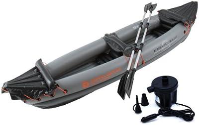 auflbasbares de 2personas canoa con afeitadora. Bomba de aire y 2Remo K de 10
