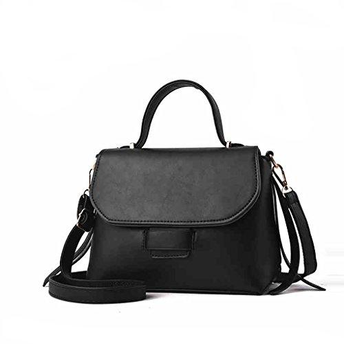 CLOTHES- Sacchetti della borsa del messaggero delle borse della borsa della borsa della borsa di modo coreano ( Colore : Nero ) Nero
