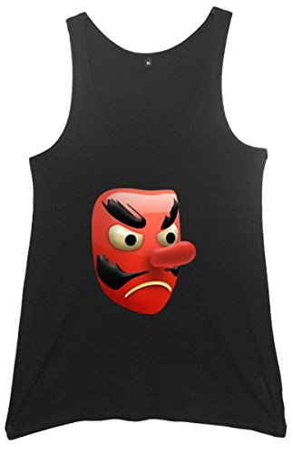 Red Goblin Mask Emoji Women's Tunic Vest Schwarz