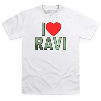 I Love Ravi T Shirt, Male, White, S