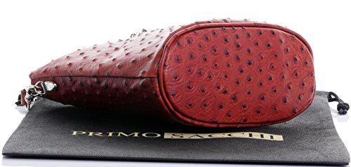 Italienisch Weichleder, Kleine Cross Body oder Umhängetasche Handtasche. Enthält eine Schutzaufbewahrungstasche. Mid Brown Strauß