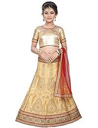 Friends Deal Fashion Gotta Worked Net with satin inner Fabric,Net Fabric Dupatta Semi Stiched 10age to 12year Girls Best Lehenga Choli