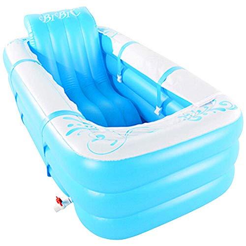 Badewannen Audrly Inflatable, Eindickung Wanne, Folding-Bad-Bassin, Kunststoff Bad Bucket Größe 165 * 80 * 60 cm, mit elektrischer Pumpe