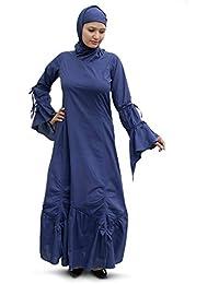 MyBatua Muslim Ethnic Zuhur Navy Blue Abaya