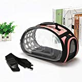 HLYMNB Large Capacity Portable Folding Pet Backpack Carrier Transparent Breathable Dogs Cats Puppy Universal Travel Carrying Bags