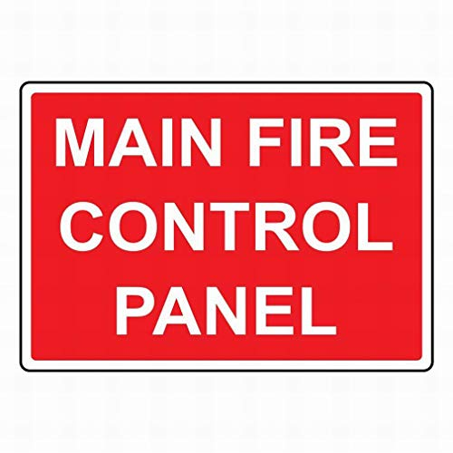 mefoll Notice Sign Garage Tin Metal Sign 8x12 Main Fire Control Panel Sign Safety Sign Warning Sign for Street Road Outdoor Indoor by -