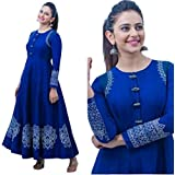 KANSHI Women's Pure Rayon Long Kurti | Anarkali Gown For Girls