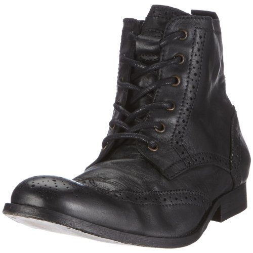 Hudson Angus, Chaussures montantes homme Noir (Washed Black)