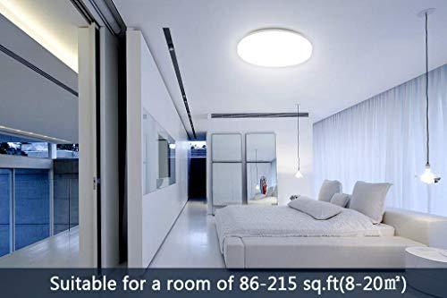 Plafoniere A Led Per Soggiorno : Öuesen plafoniera led 18w lampada soffitto pari a luce da 100w