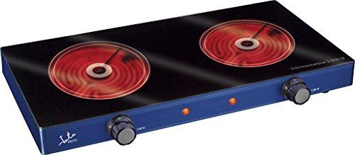 Jata V142 Cocina eléctrica vitrocerámica con 2 Placas caloríficas, 2400 W, Metal,...