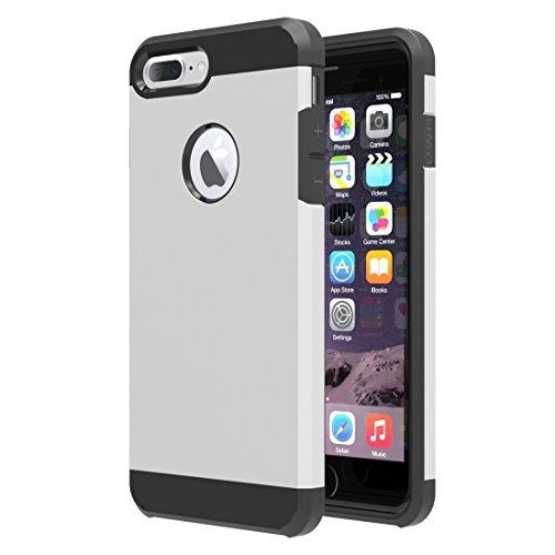 Easy Go Shopping Trennbare Mieder-TPU + PC Kombinations-Fall, Kleine Menge Empfohlen vor iPhone 7 Plus, Das für iPhone 7 Plus startet (Color : Silver) (Mieder Taste)