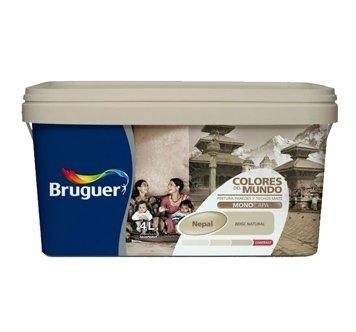 Bruguer - Pintura colores del mundo nepal matiz de beige 4l