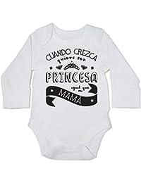 HippoWarehouse Cuando Crezca Quiero Ser Princesa Igual Que Mi Mamá body manga larga bodys pijama niños