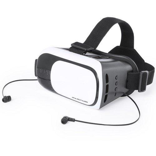 Virtual-Reality-Brille mit Bluetooth-Wiederaufladbar USB-verstellbare Linsen-inkl. Kopfhörer-Ideal für Iphone, Android, PC, Handy, PS4
