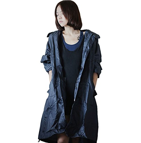 Dopobo Fashion Stylish Hooded Raincoat Rain Jacket Rainwear Fast Dry