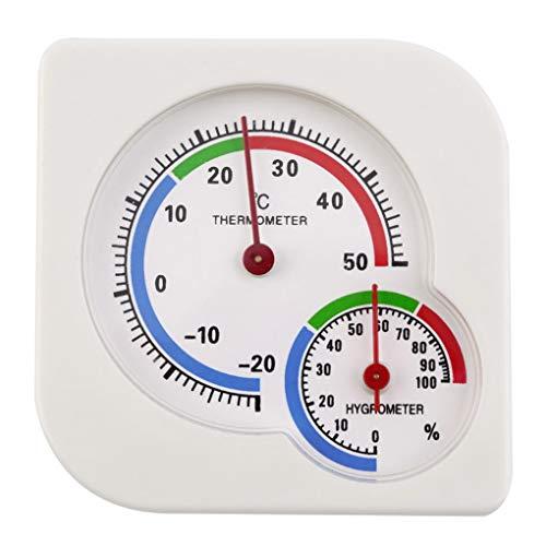 Zerama Permanente Cubierta Colgante de marcación probador de la Humedad de plástico analógico termómetro...