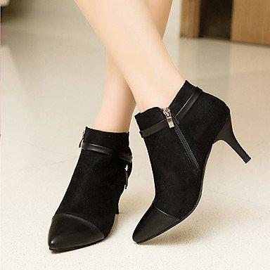 RTRY Chaussures Pour Femmes Bottes Mode Confort Hiver Pu Talon Bloc Bout Rond Bottes / Boots Chaussures Casual Pour Fermeture Éclair Brun Noir Brun Us7.5 / Eu38 / Uk5.5 / Cn38 Ym9KYL8Zw