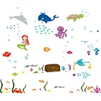 DecoBay Under the Sea Mermaid with the Treasure Box Bathroom Children