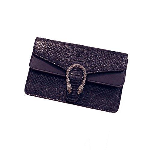 2018 Neue Designer Handtaschen Schlange Linie Muster Mode Frauen Kette Tasche Umhängetasche,Black-OneSize