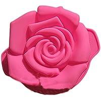YOKIRIN® Stampi in Silicone Formi di Rose Accessorio per la Decorazione Della Torta del Fondente di Cioccolato Stampo Zucchero Torte Stampi Sapone(11*5.3cm)