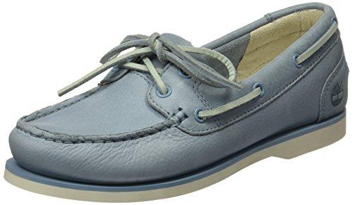Timberland Classic Boat Unlined Boatstone Blue Escape, Chaussures Bateau Femme Bleu (Stone Blue Escape)