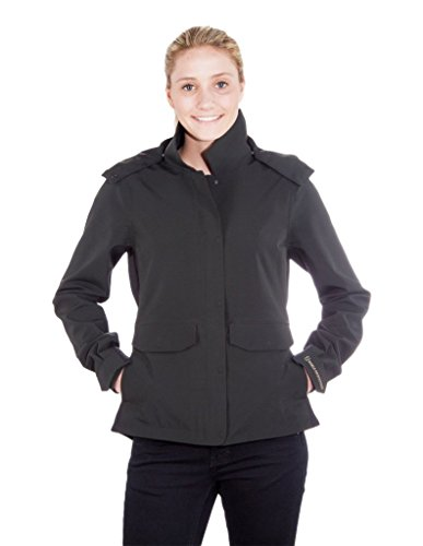 e6035ae2ab Noble Outfitters Jacket Womens Pinnacle Zip Hood WP Black 28520 - Black -