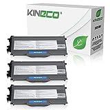 Kineco 3 Toner kompatibel für Brother TN-2120 TN2120 für Brother HL-2140, HL-2150N, HL-2170W, DCP-7030, DCP-7040, DCP-7045N - Schwarz je 2.600 Seiten
