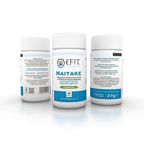 Efit Therapy Maitake (Grifola Frondosa) Fungo in Estratto Secco - 90 opercoli
