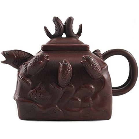 Yixing Clay Jumping Fish Tea Pot, 16 Ounce by BigKitchen