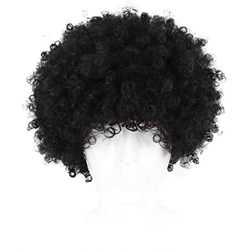 er, Flauschige Kleine Lockige Rose Net Hair Sets Explodieren Kopf Fake, 80er Jahre Charmante Realistische Punk Rock Rollenspiele Halloween Maskerade Realistische Dummies ()