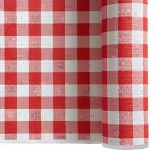 nappe papier gauffr x 6 m vichy rouge et blanc cuisine maison. Black Bedroom Furniture Sets. Home Design Ideas