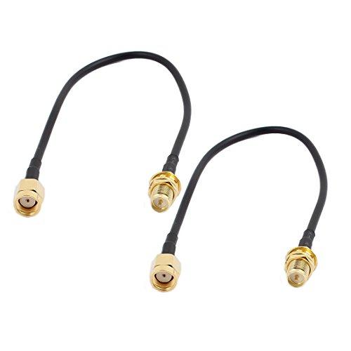Aexit 2 Unids RG174 Cable Extensión Antena RP-SMA