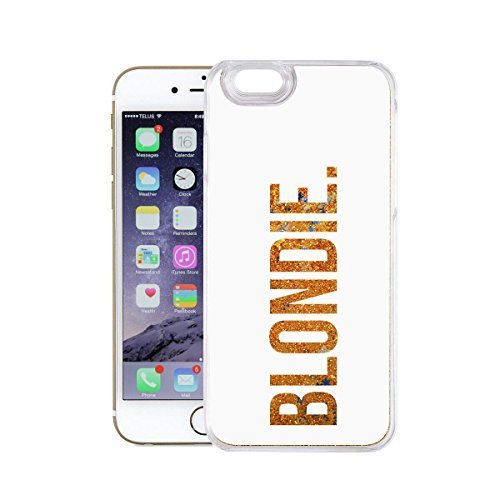 finoo | Iphone 6 Plus / 6S Plus Flüssige Liquid Goldene Glitzer Bling Bling Handy-Hülle | Rundum Silikon Schutz-hülle + Muster | Weicher TPU Bumper Case Cover | Katze auf Ast Blondie White