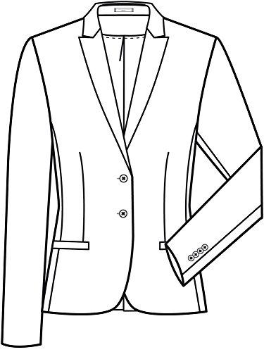 Greiff Damen-Blazer mit Spitzfacon | Klassische 2-Knopf Reihe | Mit 3  Taschen ...