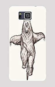 Back Cover for Samsung Galaxy Alpha cycling bear