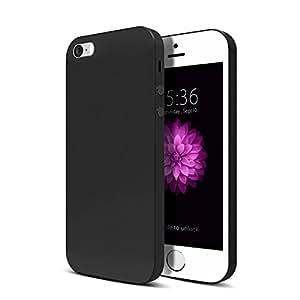 iPhone SE 5S 5 5C Hülle, Voroar Handyhülle für iPhone Ultra Dünn Schutzhülle Stoßfest, Anti-Fingerabdruck, Anti-Scratch FeinMatt FederLeicht Hülle für iPhone SE 5S 5C 5 (Schwarz)