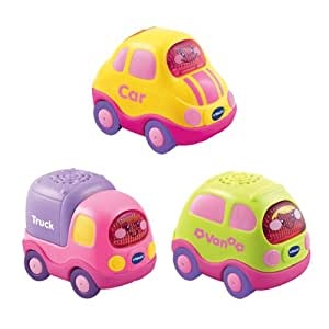 VTech Baby Toot-Toot Drivers Everyday Vehicles 3-Car Pack (Pink)