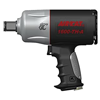 AIRCAT 1600-TH-A 3/4 Drive Composite Impact Wrench, Medium, Black & silver by AirCat