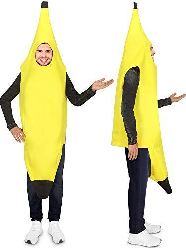 Bananen Kostüm Lustige Cosplay Bananen Anzug Erwachsene Leichte Bananen Kostüme Obst Kostüm für Halloween Party (2 Stücke)