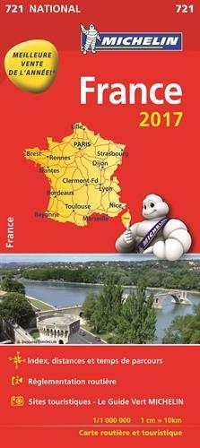 Carte France Michelin 2017