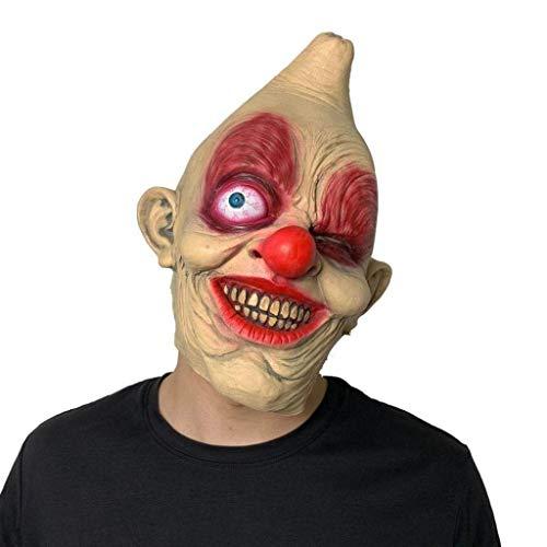 Halloween Masken Kostüm Masken Halloween Masken Horror Einäugige Maske Kopfbedeckung Clown for Allerheiligen Allerheiligen (Weihnachten Im Zusammenhang Kostüm)