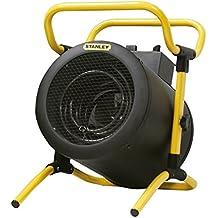 K2Calore KT0511 - Calefactor Industrial Eléctrico Kovyx Stanley Turbo 5000 W. resistencia de acero y termostato, potencia y cuerpo regulables (36 x 34 x 44 cm)