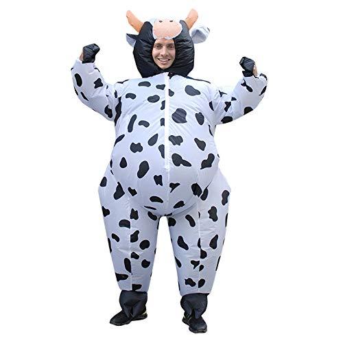 Original Cup Aufblasbare Kuh Kostüm Neu - Premium Quality - Kostüm für Erwachsene Größe Polyester Beständig - Mit Inflation - Aufblasbares Kostüm Kuh