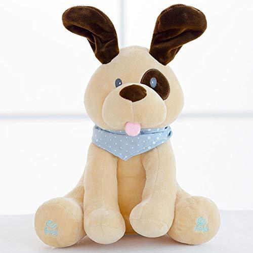 XiYuanShangMao Cartoon Hund Pl¨¹sch Spielzeug Abdeckung Augen singen Blick Spiel angef¨¹llte elektronische Puppe Spielzeug Spielzeug f¨¹r Kinder f¨¹r Kleinkinder Jungen und M?dchen