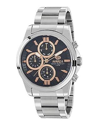 Reloj Marea Analógico Multifunción para Hombre B54128/1 con Armis de Acero y Esfera Negra y Rosegold