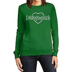 Lieblingsmensch Liebe Valentinstag Geschenkidee für Sie Frauen Sweatshirt Medium Grün
